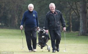 Friends. Bob and Jeff were playing a 'fourball' match at Queens Park Golf Club, Bournemouth