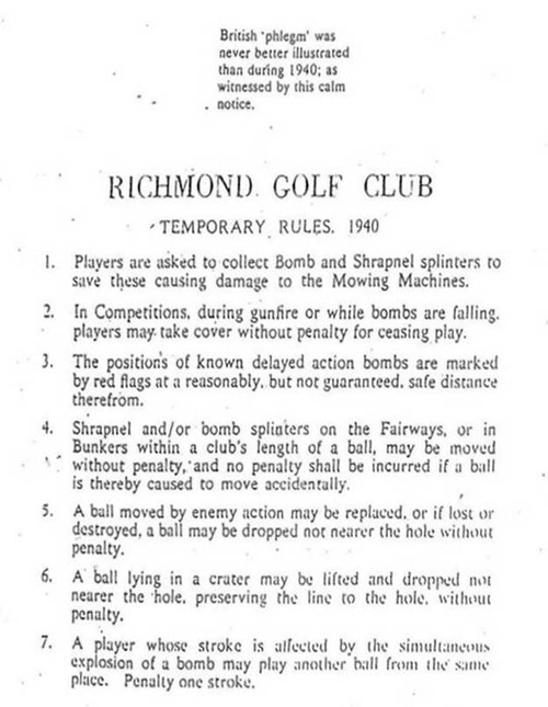 British Golf Rules in 1940