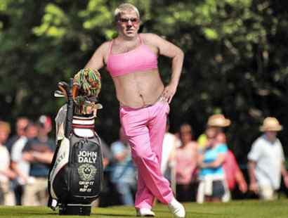 John Daly Honors Amy Mickelson By Wearing Pink Sports Bra