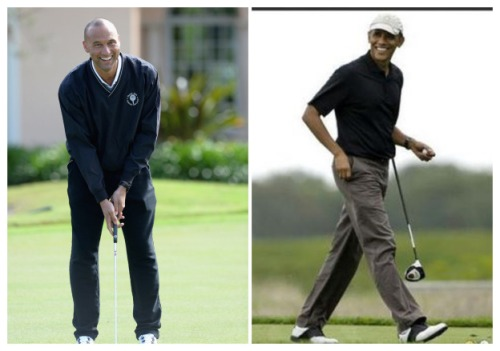 Obama Hustled in Golf 01